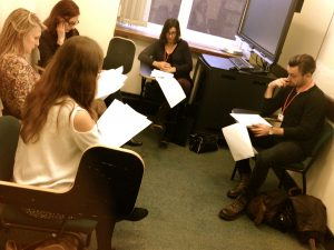 Actors Table Read session @ London Screenwriters' Festival 2013